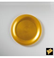 Assiette Plastique Plate Or Round PP Ø185mm (600 Utés)