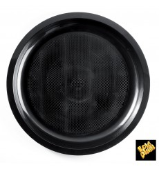 Assiette Plastique Noir Round PP Ø290mm (300 Utés)