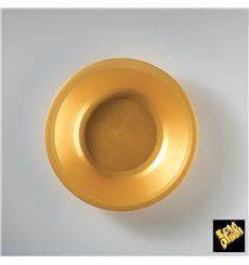 Assiette Plastique Creuse Or Round PP Ø195mm (600 Utés)