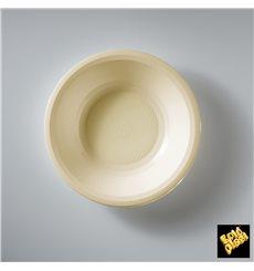Assiette Plastique Creuse Crème Round PP Ø195mm (50 Utés)