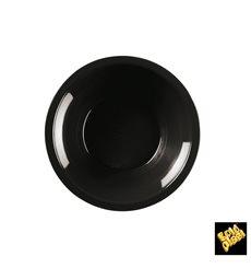 Assiette Plastique Réutilisable Creuse Noir PP Ø195mm (50 Utés)