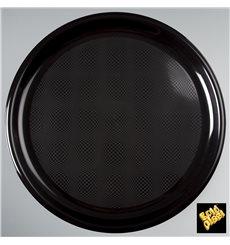 Assiette Plastique Pizza Noir Round PP Ø350mm (12 Utés)