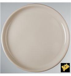 Assiette en Plastique Pizza Beige Round PP Ø350mm (144 Utés)