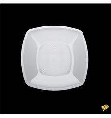 Assiette Plastique Plate Blanc Square PP 180mm (25 Utés)