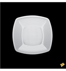 Assiette Plastique Plate Blanc Square PP 180mm (300 Utés)