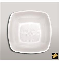 Assiette Plastique Réutilisable Creuse Blanc  PP 180mm (25 Utés)