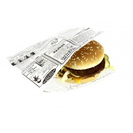 Papieren voedsel zak Vetvrij opening L vormig 17x18cm (4000 stuks)