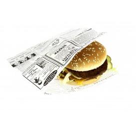 Papieren voedsel zak Vetvrij opening L vormig 17x18cm (500 stuks)