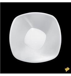 """Bol en Plastique PP """"Square"""" Blanc 1250ml Ø21cm (3 Utés)"""