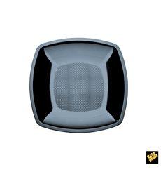 Assiette Plastique Réutilisable Plate Noir  PS 180mm (25 Utés)