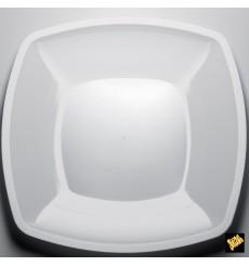 Assiette Plastique Plate Blanc Square PS 300mm (12 Utés)