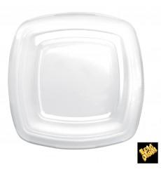 Couvercle Plastique Transp. Square PET pour Assiette 180mm (25 Utés)