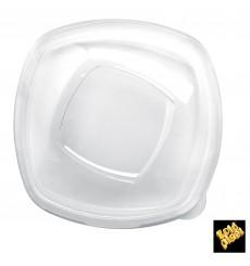 """Couvercle Plastique PET Cristal """"Square"""" Ø21cm (3 Utés)"""