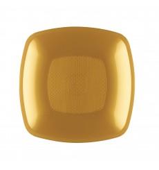 Assiette Plastique Creuse Or Square PP 180mm (12 Utés)