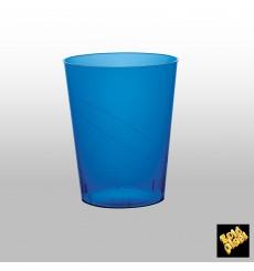 Verre Plastique Moon Bleu Transp. PS 350ml (400 Unités)