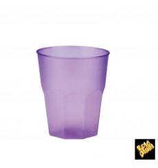"""Verre Plastique """"Frost"""" Violet PP 270ml (20 Unités)"""