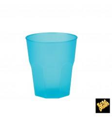 """Verre Plastique """"Frost"""" Turquoise PP 270ml (20 Unités)"""