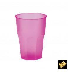 """Verre Plastique """"Frost"""" Fuchsia PP 350ml (20 Unités)"""