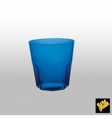 Verre Plastique Cocktail Bleu Transp. PS Ø73mm 220ml (50 Utés)