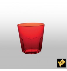 Verre Plastique Rouge Transp. PS Ø73mm 220ml (1000 Utés)