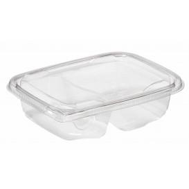 Plastic deli Container PET onverbrekelijk 2C 200/300ml 18x14x4cm (65 stuks)