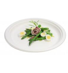 Suikerriet bord wit Ø26 cm (50 eenheden)