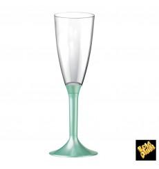 Flûte Champagne Plastique Pied Tiffany Perlé 120ml 2P (20 Utés)