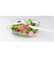 Fourchette Biodégradable Blanc CPLA 160mm (50 Unités)