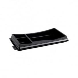 Plastic sushi Container PET zwart 19,9x11,3cm (720 stuks)