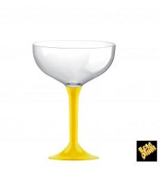 Flûte Champagne Plastique Pied Jaune 200ml 2P (20 Utés)