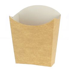 Papieren Container voor frietenkraft medium maat 8,2x3,5x12,5cm (500 eenheden)