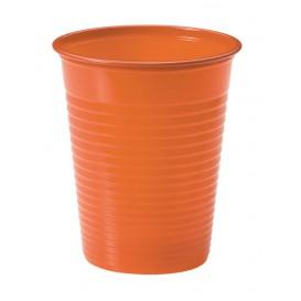 Plastic PS beker oranje 200ml Ø7cm (50 stuks)