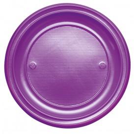 Assiette Plastique PS Plate Violette Ø220mm (780 Unités)