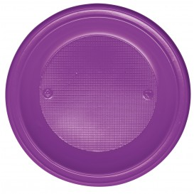 Assiette Plastique PS Creuse Violette Ø220mm (30 Unités)