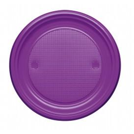 Assiette Plastique PS Plate Violette Ø170mm (50 Unités)