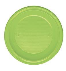 Assiette Plastique Plate Orange PS 220mm (600 Unités)