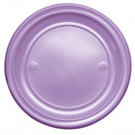 Assiette Plastique PS Plate Lilas Ø220mm (30 Unités)