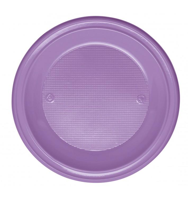 Assiette Plastique PS Creuse Lilas Ø220mm (600 Unités)