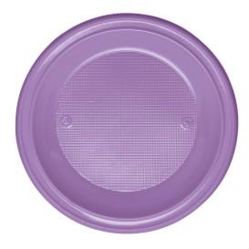 Assiette Plastique PS Creuse Lilas Ø220mm (30 Unités)