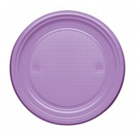 Assiette Plastique PS Plate Lilas Ø170mm (50 Unités)