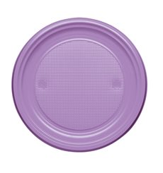 Assiette Plastique Plate Violette PS 170mm (50 Unités)