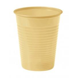 Plastic PS beker crème 200ml Ø7cm (50 stuks)