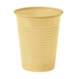 Gobelet Plastique PS Crème 200ml Ø7cm(1500 Unités)