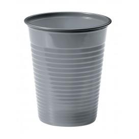 Plastic PS beker zilver 200ml Ø7cm (50 stuks)