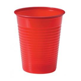Plastic PS beker rood 200ml Ø7cm (50 stuks)