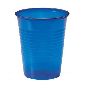Plastic PS beker donkerblauw 200ml Ø7cm (50 stuks)