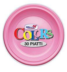 Assiette Plastique PS Creuse Rose Ø220mm (600 Unités)