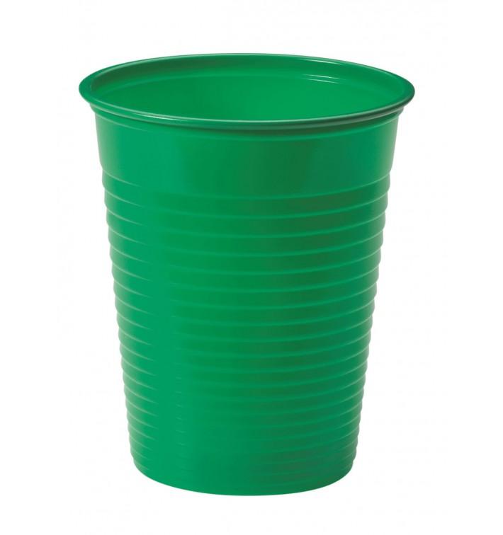 Gobelet Plastique PS Vert 200ml Ø7cm (1500 Unités)