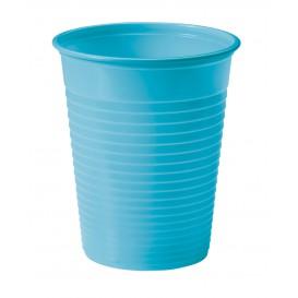 Plastic PS beker turkoois 200ml Ø7cm (50 stuks)