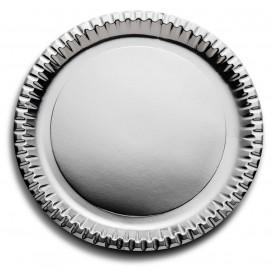 Assiette ronde Carton Argenté 290mm (6 Unités)